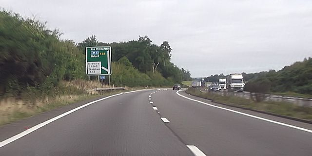 A34 at Tothill services junction