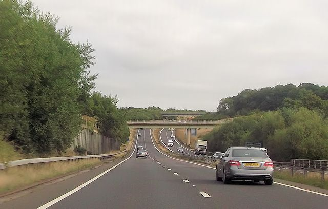 A34 at Bagnor occupation bridge