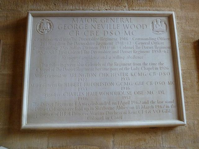 Sherborne Abbey: memorial (ix)
