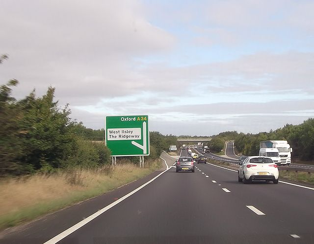 A34 junction south of Chilton