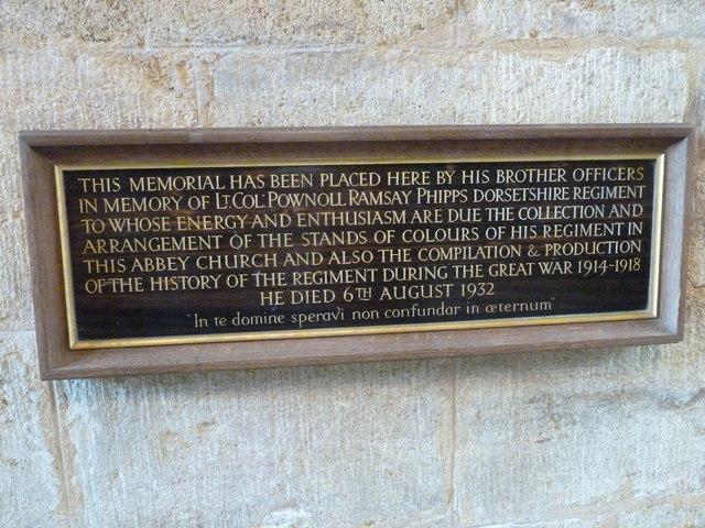 Sherborne Abbey: memorial (xii)