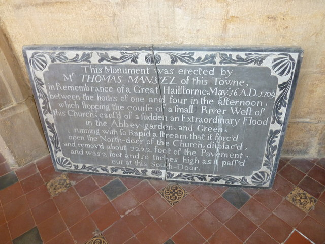 Sherborne Abbey: memorial (xiii)