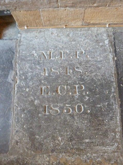 Sherborne Abbey: memorial (xiv)