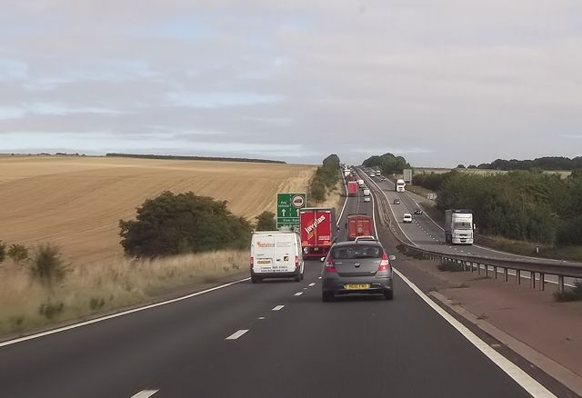 A34 north of East Ilsley