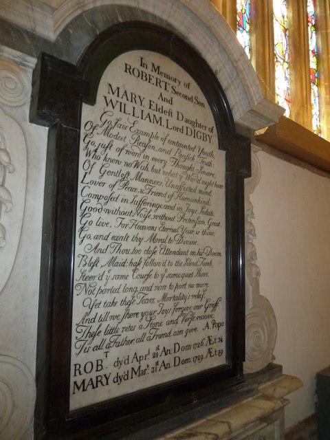Sherborne Abbey: memorial (xv)