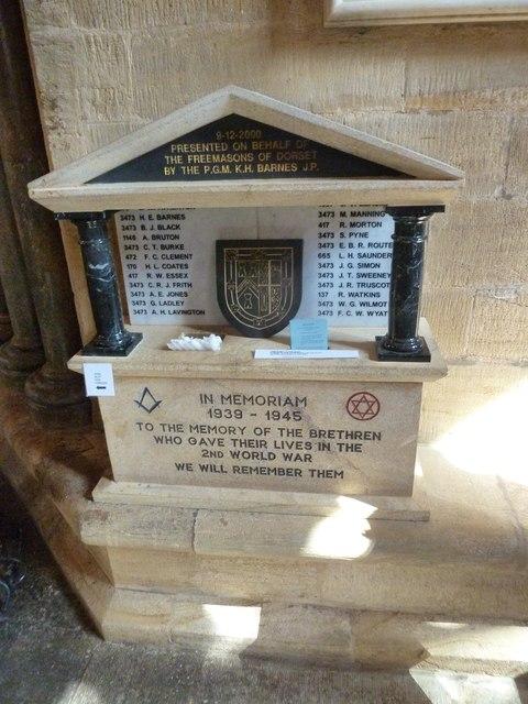 Sherborne Abbey: memorial (xix)