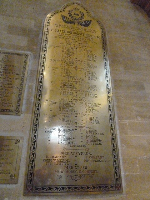 Sherborne Abbey: memorial (xxi)