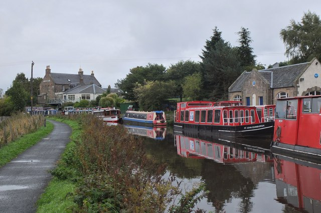 Boat moorings at Ratho