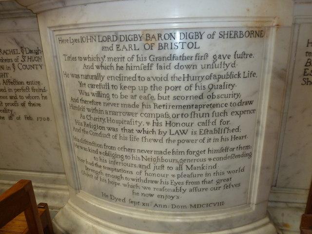 Sherborne Abbey: memorial (xxvi)