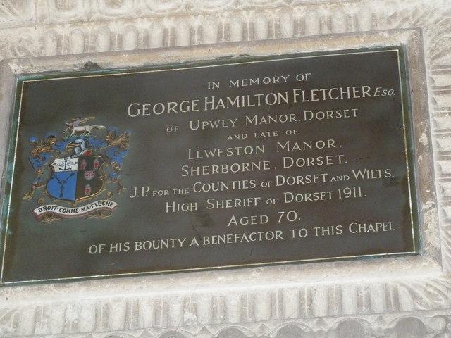 Sherborne Abbey: memorial (xxxiv)