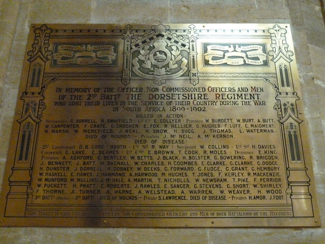 Sherborne Abbey: memorial (xl)
