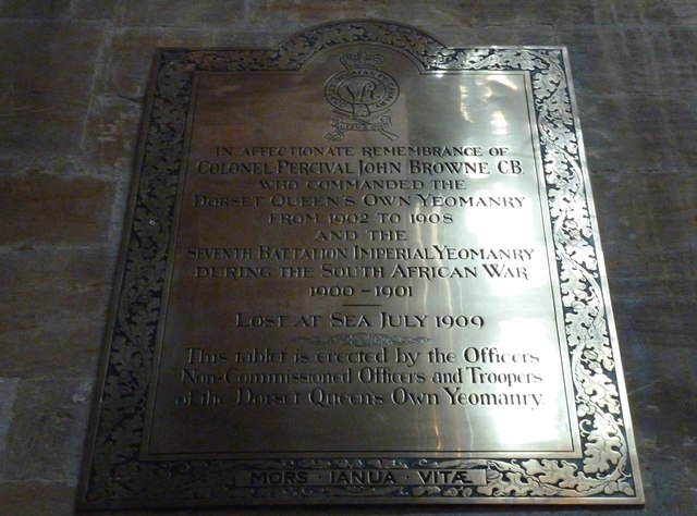 Sherborne Abbey: memorial (xlii)