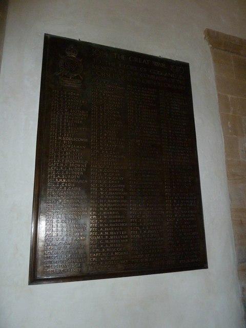 Sherborne Abbey: memorial (xliii)