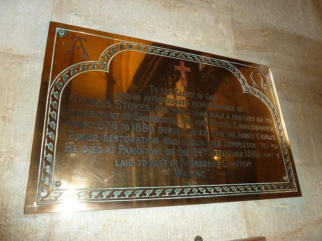Sherborne Abbey: memorial (xliv)