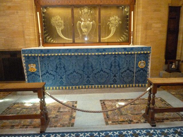 Sherborne Abbey: altar (I)