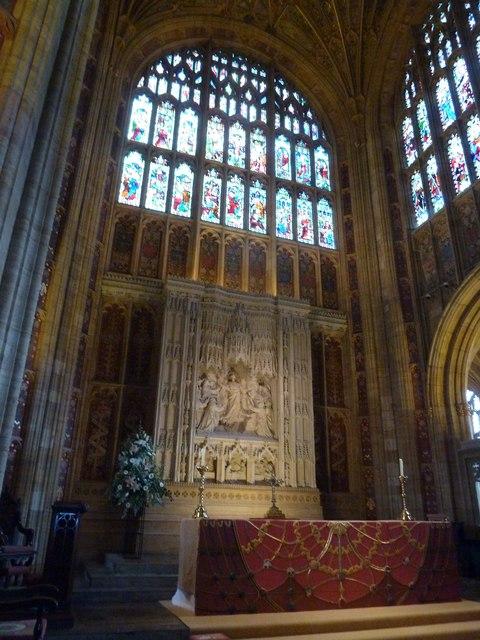 Sherborne Abbey: altar (III)