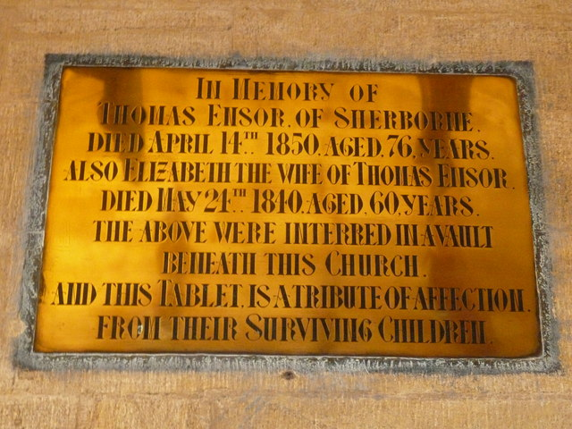 Sherborne Abbey: memorial (xlviii)