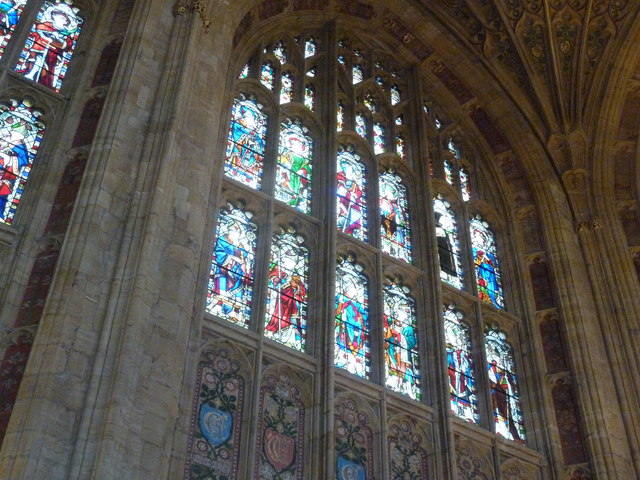 Sherborne Abbey: stained glass windows (A)