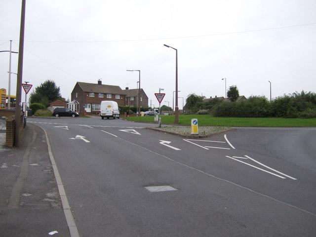 Burton Road approaching roundabout
