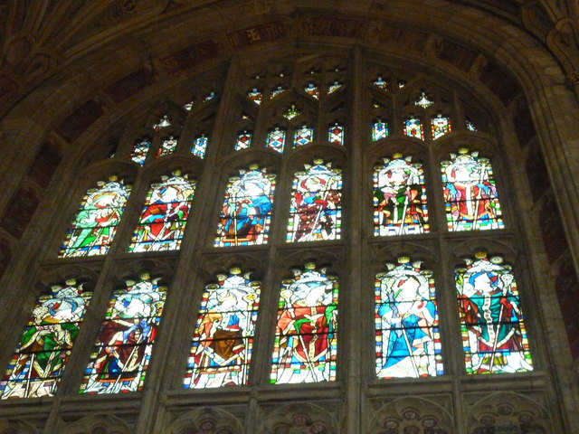 Sherborne Abbey: stained glass windows (D)