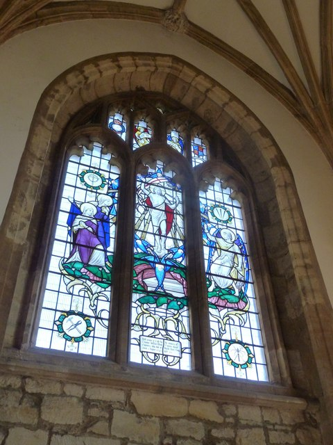 Sherborne Abbey: stained glass windows (F)