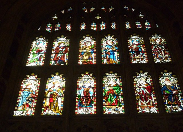 Sherborne Abbey: stained glass windows (G)
