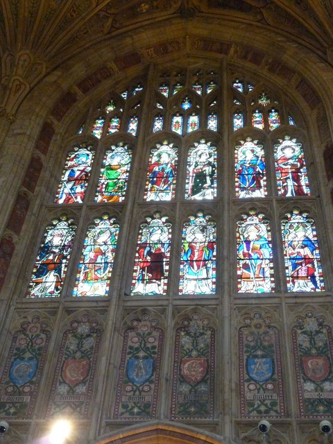 Sherborne Abbey: stained glass windows (J)
