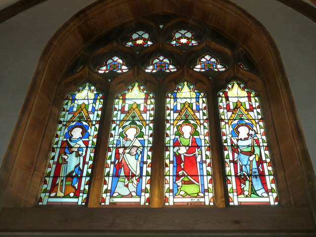 Sherborne Abbey: stained glass windows (L)