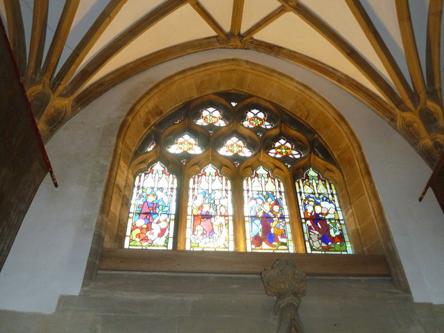 Sherborne Abbey: stained glass windows (P)