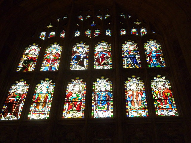 Sherborne Abbey: stained glass windows (Q)