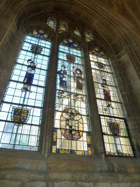 Sherborne Abbey: stained glass windows (R)