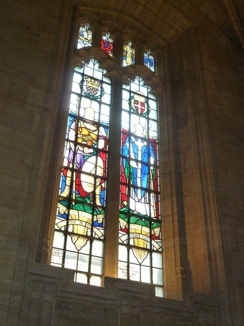 Sherborne Abbey: stained glass windows (S)