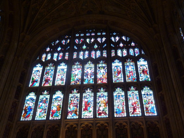 Sherborne Abbey: stained glass windows (T)