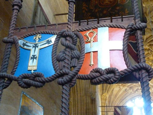 Sherborne Abbey: gate detail