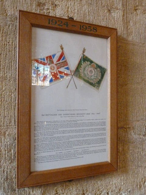 Sherborne Abbey: Dorset Regiment Commemoration (b)