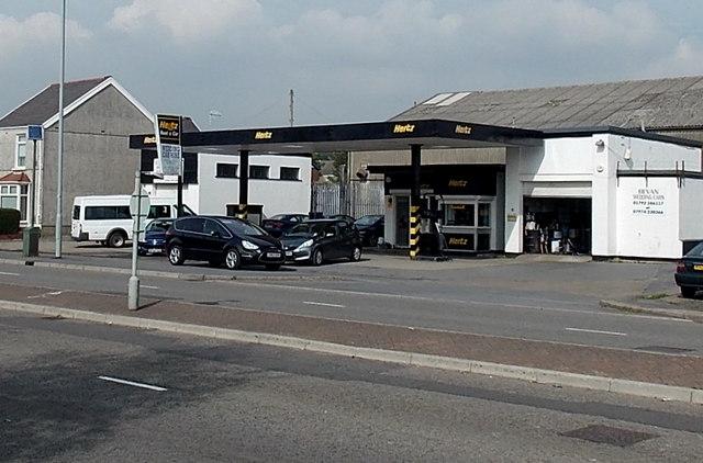 Hertz car hire, Gendros, Swansea