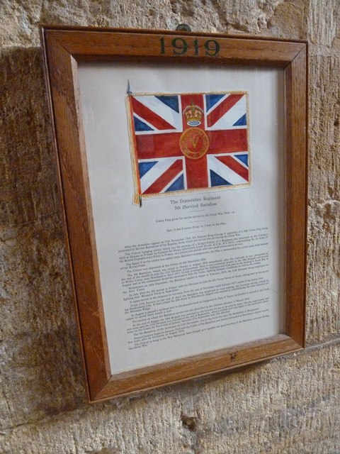 Sherborne Abbey: Dorset Regiment Commemoration (d)