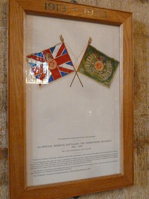 Sherborne Abbey: Dorset Regiment Commemoration (e)