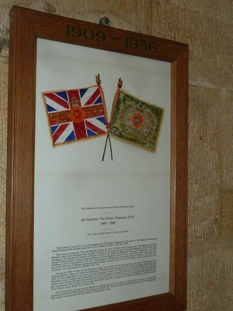 Sherborne Abbey: Dorset Regiment Commemoration (f)