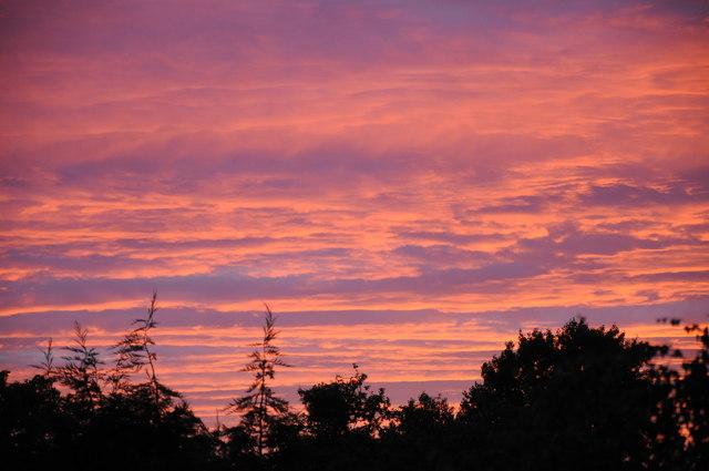 Earl's Croome sunset