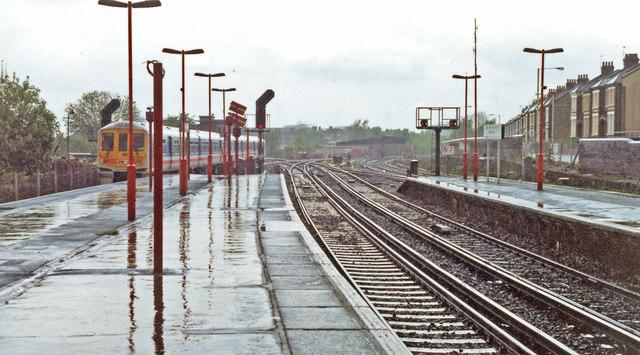 Herne Hill station, view northward 1992
