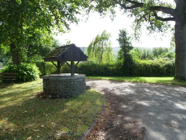 The well in the centre of Tredunnock
