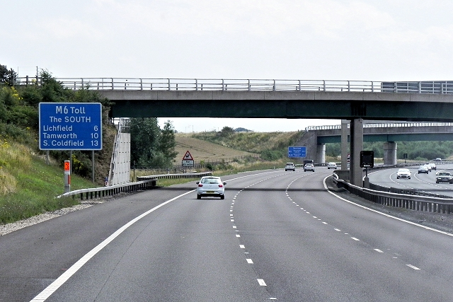 M6 Toll Road, Hanney Hay Road Bridge