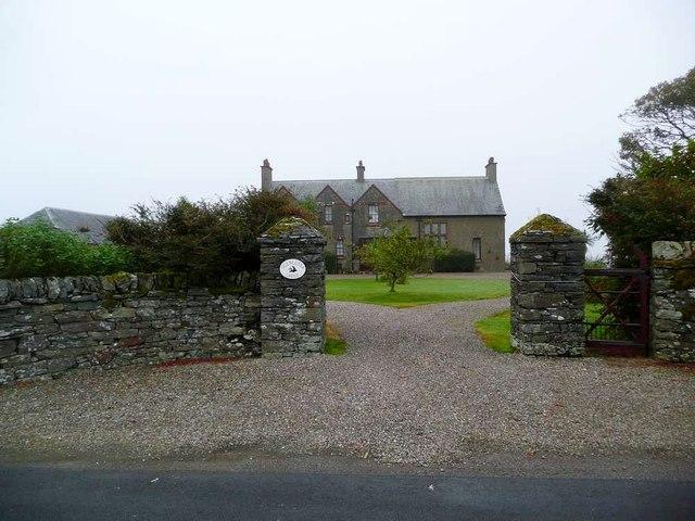 Fine entrance to Glenlussa Lodge