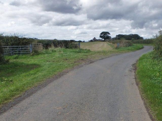 Minor Z-bend in minor road