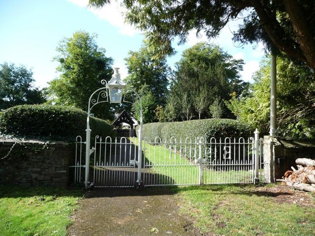 Gate and holly-hedged avenue, St Andrew's