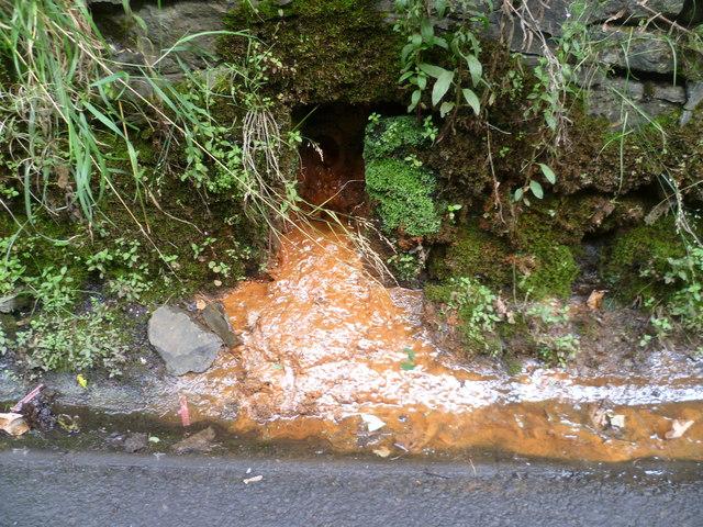 Iron goo deposit on Polton Road