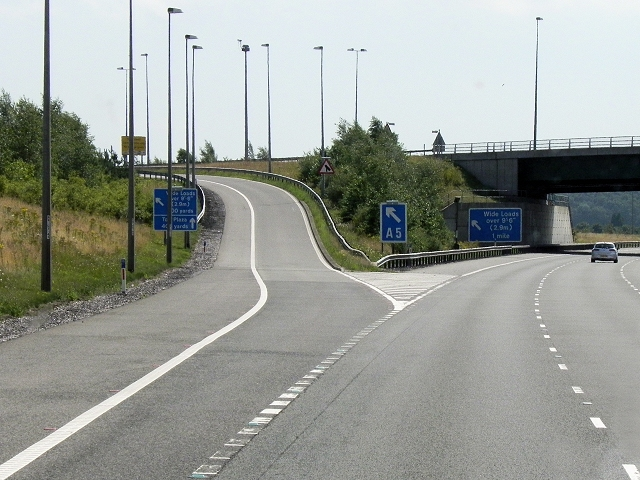 M6 Toll Road, Exit at Junction T4