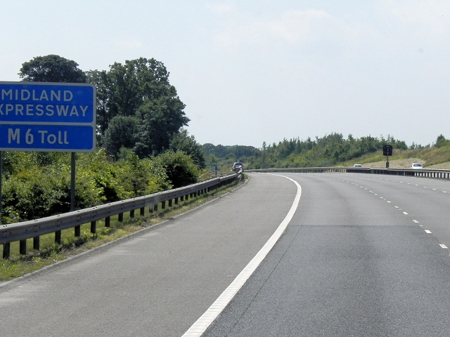 Southbound M6 Toll Road