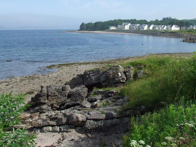 Rocky shore at Inverkip